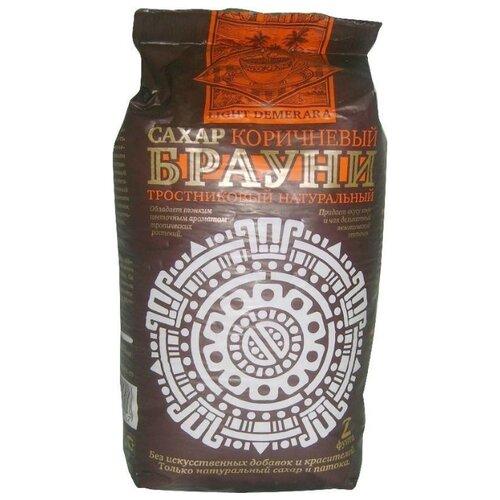 Сахар Брауни тростниковый коричневый Демерара светлый, сахар-песок 0.9 кг
