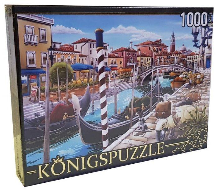 Пазл Рыжий кот Konigspuzzle Хироюки Таникава Венеция (МГК1000-8251), 1000 дет.