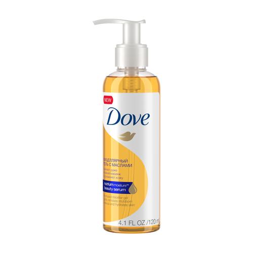 Купить Dove мицеллярный гель для снятия макияжа с маслами, 120 мл