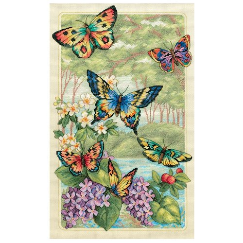 Купить Dimensions Набор для вышивания Butterfly Forest (Лес бабочек) 25 х 41 см (35223), Наборы для вышивания