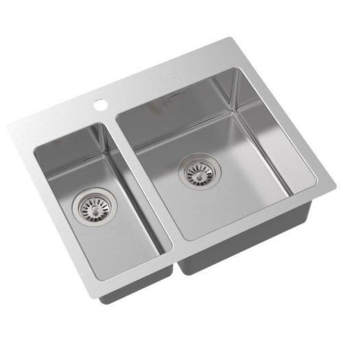 Врезная кухонная мойка 61.6 см Oulin OL-FTR202R OL-FTR202R сатин oulin ol va8109