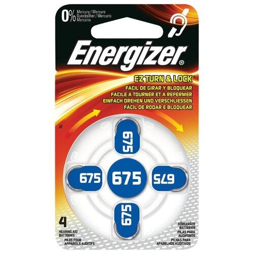 Фото - Батарейка Energizer Zinc Air 675, 4 шт. батарейка energizer cr123 1 шт 4 уп