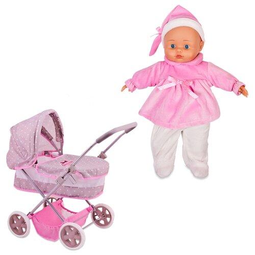 Купить Коляска-люлька Dimian 9613WB-M4 розовый/серый, Коляски для кукол