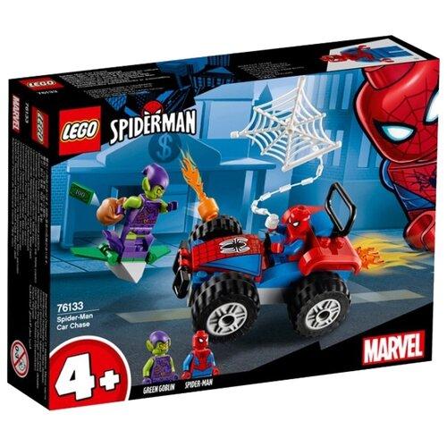 Конструктор LEGO Marvel Super Heroes 76133 Автомобильная погоня Человека-паукаКонструкторы<br>