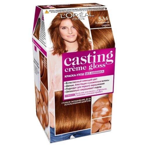 L'Oreal Paris Casting Creme Gloss стойкая краска-уход для волос, 534, Кленовый сироп l oreal краска для волос casting creme gloss 37 оттенков 254 мл 5 34 кленовый сироп