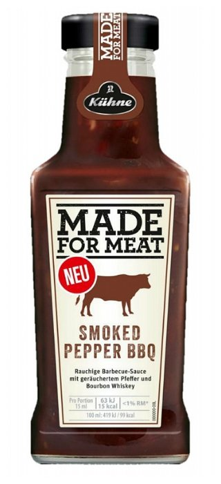 Соус Kuhne «Made for Meat» Smoked Pepper BBQ с/б 235мл