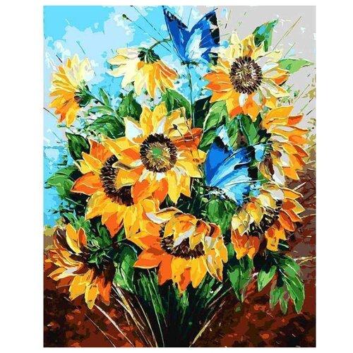 Купить Белоснежка Картина по номерам Летний букет 40х50 см (095-АВ), Картины по номерам и контурам