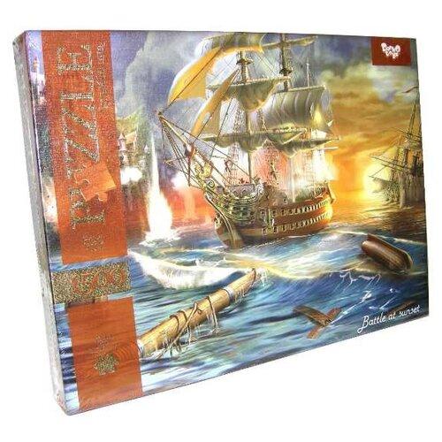 Купить Пазл Danko Toys Морской бой 2 (C1500-02-10), 1500 дет., Пазлы