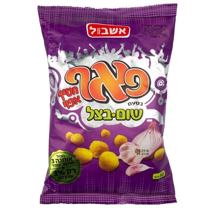 Снэк кукурузный Eshbol Ltd «Пафф» со вкусом лука и чеснока 60 г