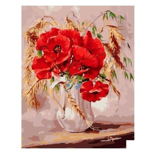 Купить Molly Картина по номерам Маки во ржи 40х50 см (KH0015), Картины по номерам и контурам