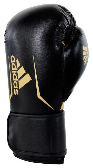 Перчатки боксерские Speed 100 черно-золотые (вес 10 унций)
