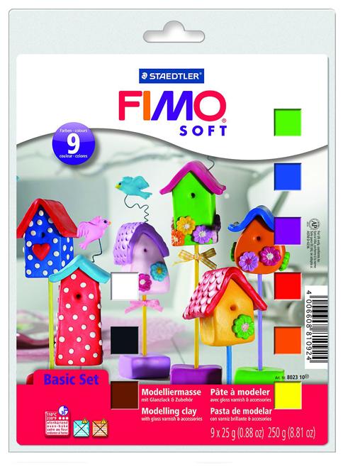 Полимерная глина FIMO Soft основной комплект 9 блоков по 25 г (8023-10/ FS8025-10)