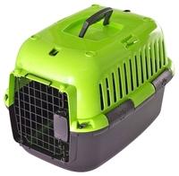 Переноска-клиппер для кошек и собак Fauna International Explorer Splash 49х32х32 см зеленый/черный