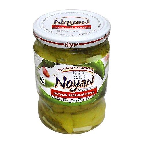 Острый зеленый перец маринованный NOYAN стеклянная банка 560 г