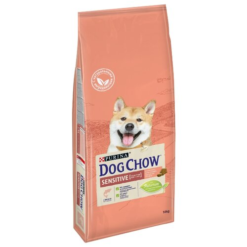 Сухой корм для собак DOG CHOW для здоровья кожи и шерсти, лосось 14 кг сухой корм для собак karmy для здоровья кожи и шерсти лосось 2 кг