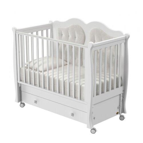 Кроватка Nuovita Affetto (качалка), продольный маятник белый кроватка nuovita affetto bianco