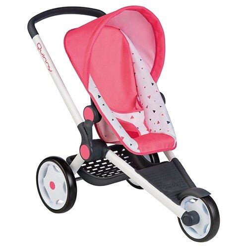 Прогулочная коляска Smoby MC&Quinny 255098 розовый/белый/рисунок прогулочная коляска quinny zapp flex plus luxe sport grey