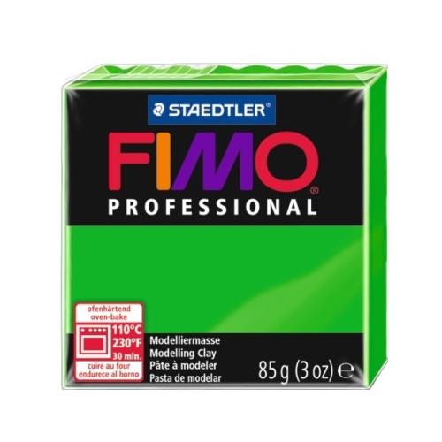 Купить Полимерная глина FIMO Professional запекаемая 85 г ярко-зеленый (8004-5), Глина