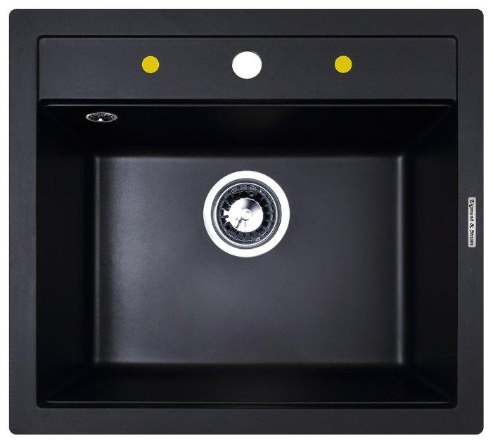 Врезная кухонная мойка Zigmund & Shtain PLATZ 560 56х50.5см искусственный гранит