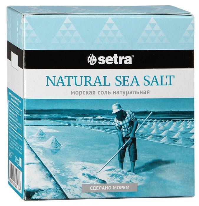 Соль Setra пищевая морская натуральная, 500 г.