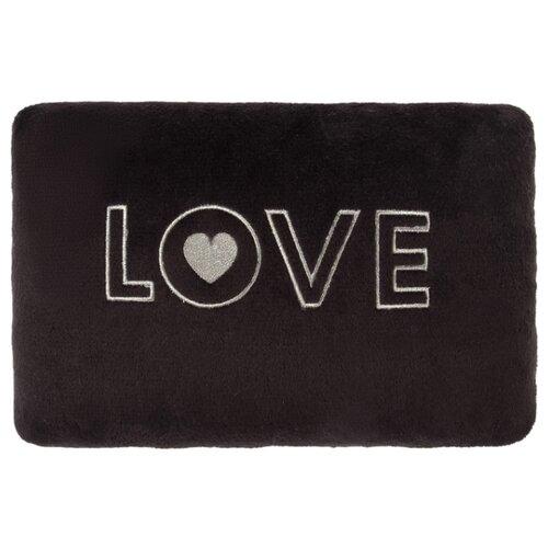 Подушка декоративная Этель LOVE 2853369, 40 x 30 см черный с вышивкой серебром подушка декоративная villa bianca сердце love 30 26 10 см
