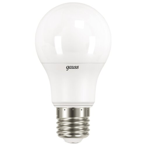 Лампа светодиодная gauss 102502110, E27, A60, 10Вт лампа светодиодная gauss 23219 e27 a60 20вт