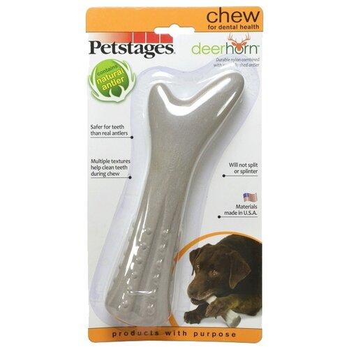 Косточка для собак Petstages Deerhorn (670STEX) серыйИгрушки для кошек и собак<br>