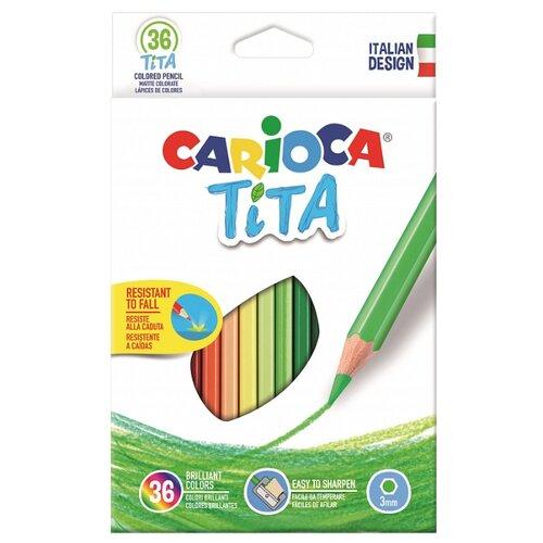 Купить Carioca набор цветных карандашей Tita 36 цветов (42795), Цветные карандаши