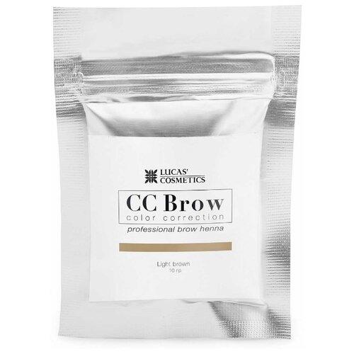 CC Brow Хна для бровей в саше, 10 г. light brownКраска для бровей и ресниц<br>
