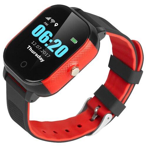 Детские умные часы Smart Baby Watch GW700S / FA23, черный/красный детские умные часы smart baby watch t58 черный