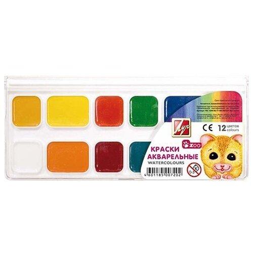 Купить Луч Акварельные краски Zoo 12 цветов, без кисти (19С 1249-08), Краски