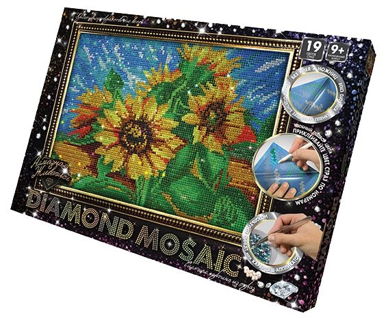 Danko Toys Набор алмазной вышивки Diamond Mosaic Подсолнухи (DM-02-02) 20х30 см