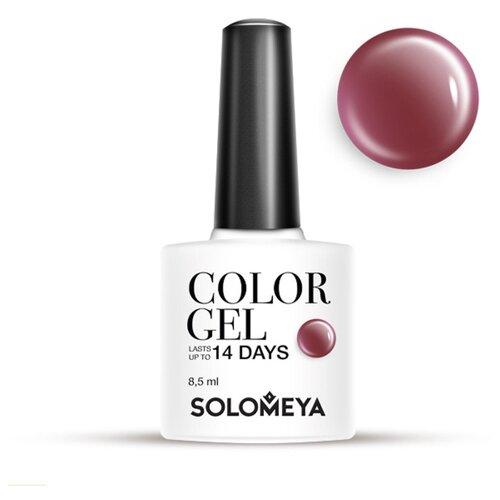 Гель-лак Solomeya Color Gel, 8.5 мл, оттенок Puce/Красновато-коричневый 17 solomeya гель лак color gel тон irish scg054 айриш 8 5 мл