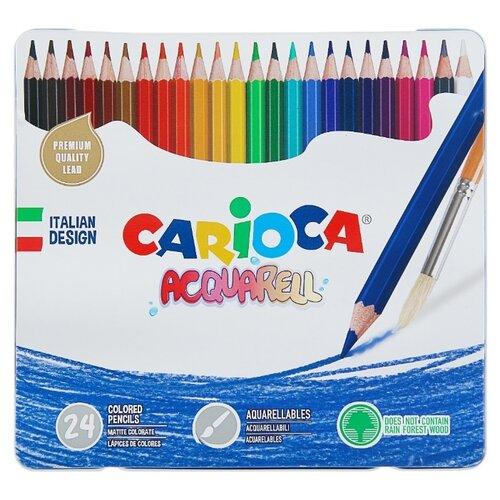 Купить Carioca набор цветных карандашей Acquarell 24 цвета (42860), Цветные карандаши