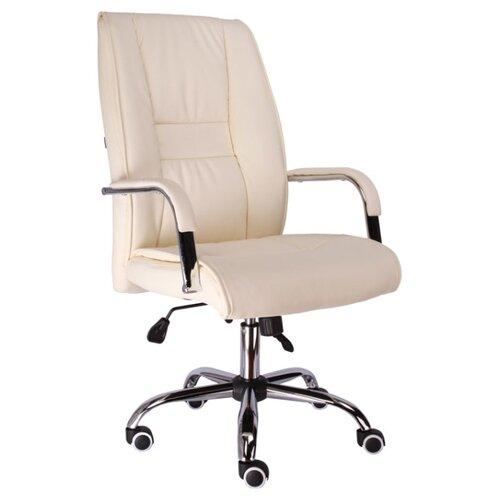 Фото - Компьютерное кресло Everprof Kent TM для руководителя, обивка: искусственная кожа, цвет: кремовый компьютерное кресло everprof trend tm для руководителя обивка искусственная кожа цвет черный