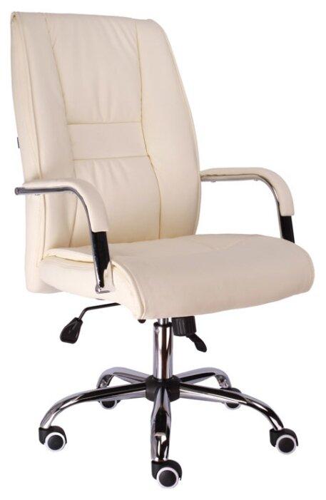Кресло руководителя офисное Everprof Kent TM экокожа кремовый