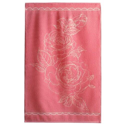 Aquarelle Полотенце Роза великолепная для лица 50х90 см розово-персиковый/кораллПолотенца<br>