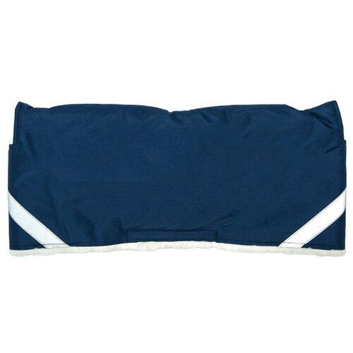 Купить Сонный Гномик Меховая муфта Норд на коляску 4083 синий, Аксессуары для колясок и автокресел