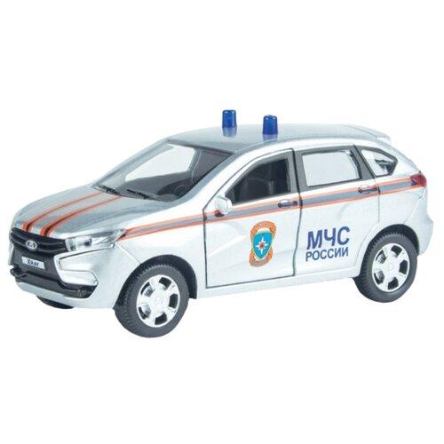 Легковой автомобиль Autotime (Autogrand) Lada Xray МЧС (68270) 1:36 серебристый