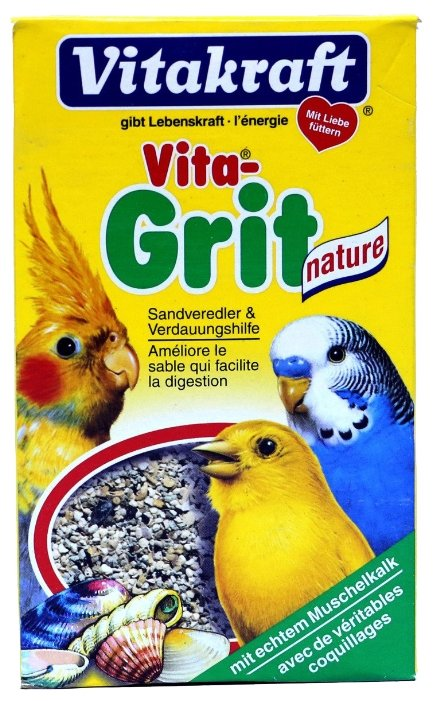 Песок Vitakraft Vita Grit Nature для всех видов птиц (300 г)