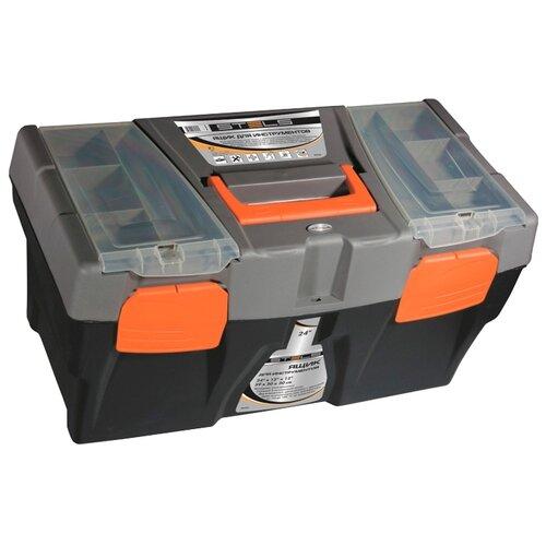 Ящик с органайзером Stels 90706 59x30x30 см 24'' черный/серый ящик stanley 1 97 514 со съемным органайзером 24 67x32 3x25 1см