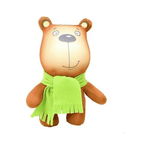 Купить Игрушка-антистресс Штучки, к которым тянутся ручки Медведь в шарфе 36 см, Мягкие игрушки
