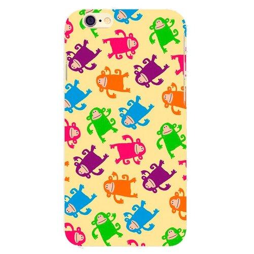 Чехол Mitya Veselkov IP6.МITYA-212 для Apple iPhone 6/iPhone 6S Смешные обезьянки на светло-желтомЧехлы<br>
