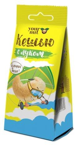 Кешью Your nut обжаренный с морской солью и с молотым луком, пластиковый пакет 80 г