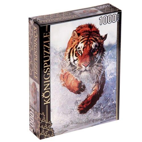 Фото - Пазл Рыжий кот Konigspuzzle Бегущий тигр (КБК1000-6469), 1000 дет. пазл рыжий кот konigspuzzle россия йошкар ола гик1000 6534 1000 дет