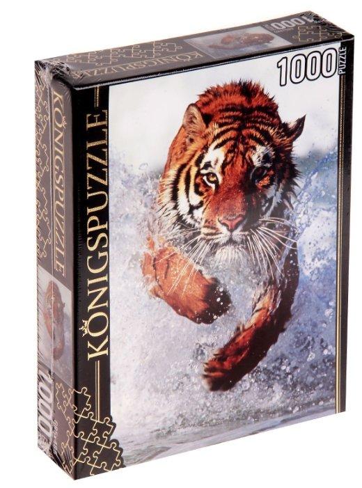 Пазл Рыжий кот Konigspuzzle Бегущий тигр (КБК1000-6469), 1000 дет.