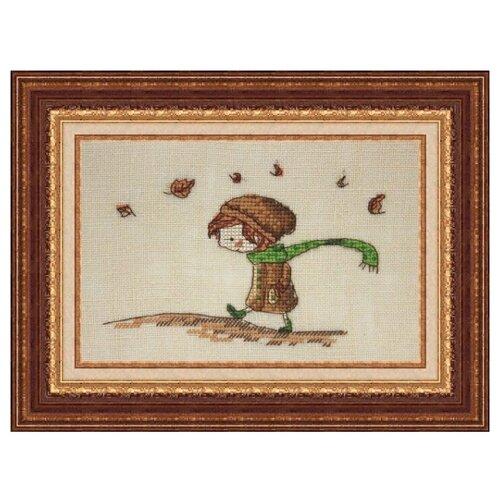 Купить NeoCraft Набор для вышивания крестиком Осенняя прогулка 9 x 14 см (мр-10), Наборы для вышивания