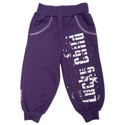Спортивные брюки lucky child размер 28/1, фиолетовыйБрюки<br>