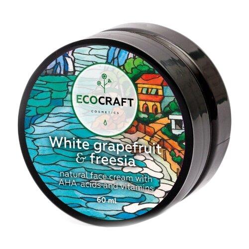 Купить EcoCraft Белый грейпфрут и фрезия Крем для лица с витаминами и АНА-кислотами для жирной и комбинированной кожи, 60 мл