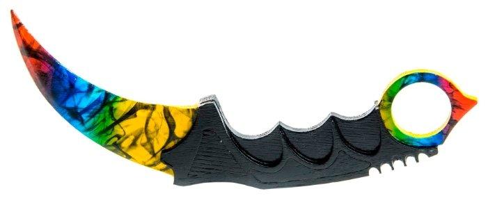 Нож-керамбит Maskbro Мраморный градиент из Counter-Strike деревянный (13-124)